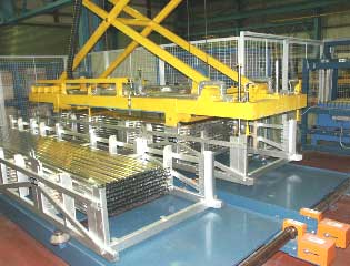aluminium extrusion packing handling bridke crane