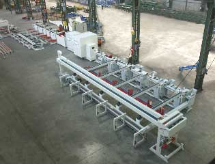 aluminium extrusion packing handling lpacking automation,  aluminium packing handling systems, packaging extrusions, pipe extrusion, packaging machines,
