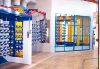 powder coating plant line painting shop