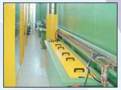 Powder coating painting line plant chemical pretreatment tunnel
