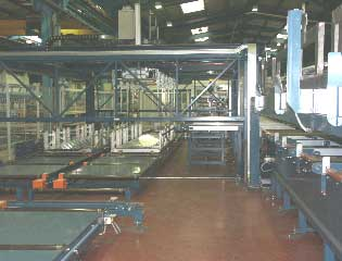 aluminium extrusion packing handling  destacker