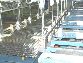 aluminium extrusion packing handling stacker