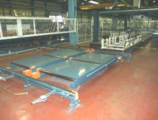 aluminium extrusion packing handling  skips transport
